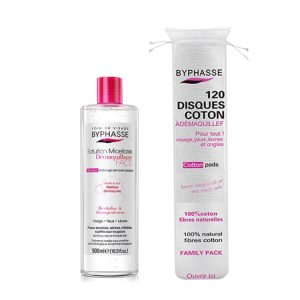Byphasse make up remover with cotton